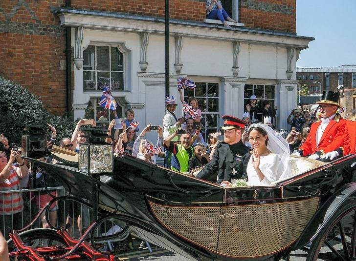 Prince Harry Meghan Markle wedding day carriage