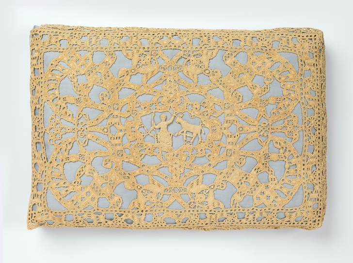 16th century lace pillow made in Italy