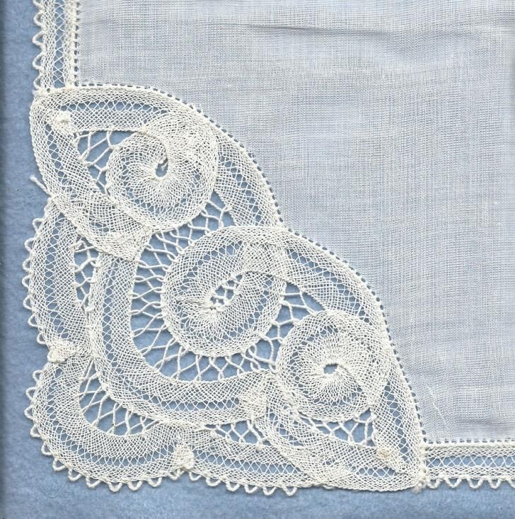 handmade Battenburg lace