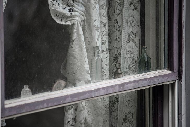 machine lace curtains