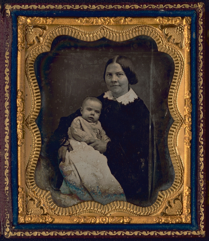 woman with child 1850s
