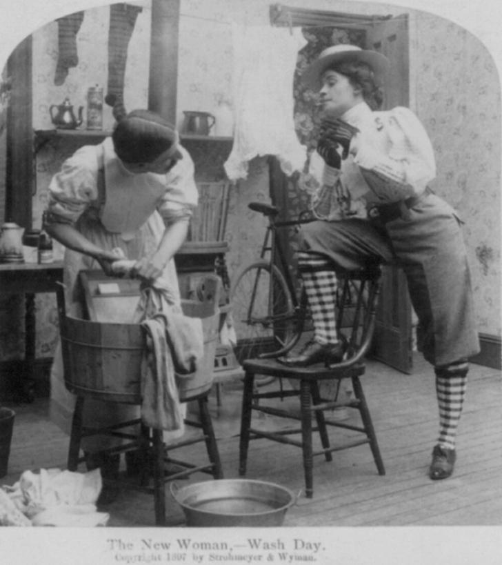 1897 wash day satire photo