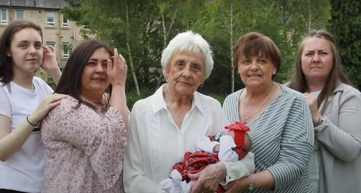 Mary Marshall and family