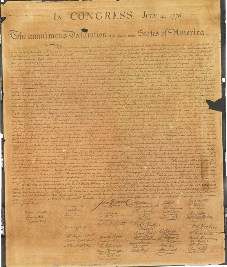 8th copy of Stone Declaration of Independence