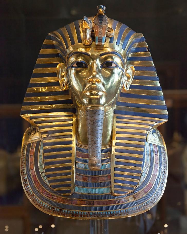 King Tut gold death mask