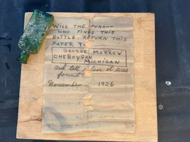 message in a bottle from Cheboygan River