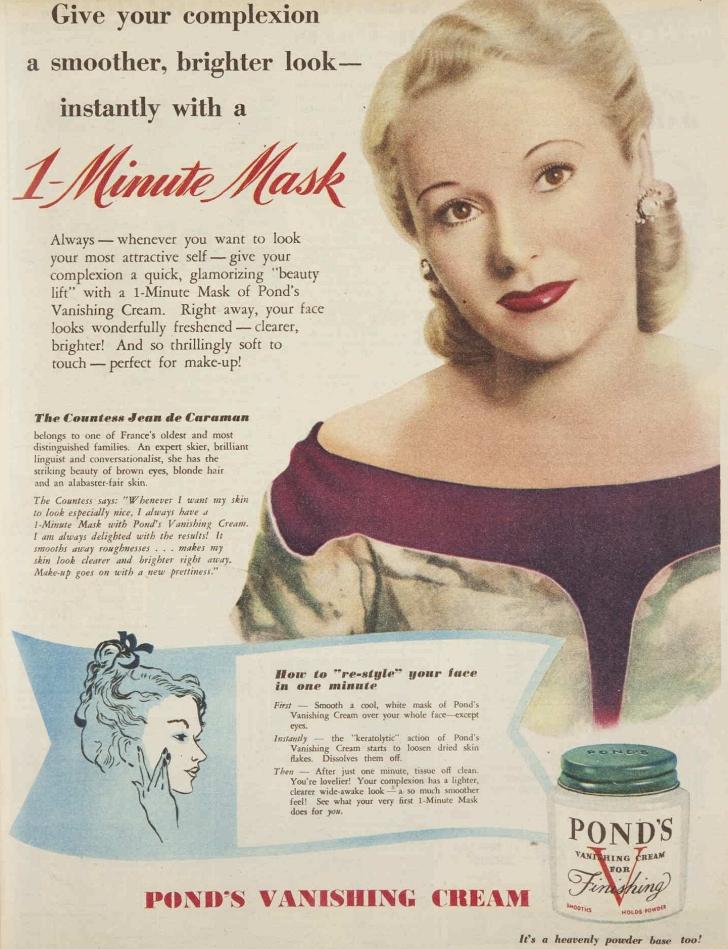 1950 Pond's Vanishing Cream ad