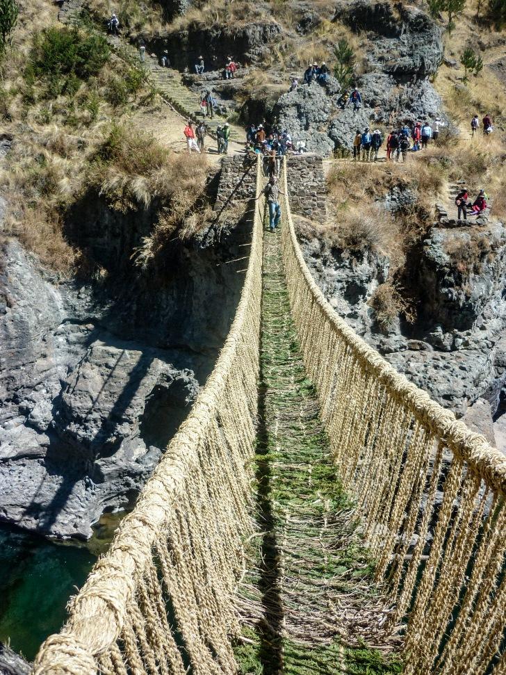 Qeswachaca rope bridge