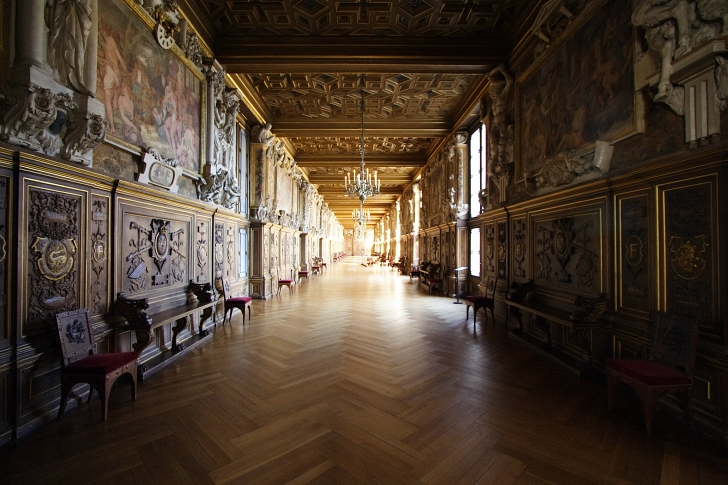 Palace of Fontainebleau gallery corridor