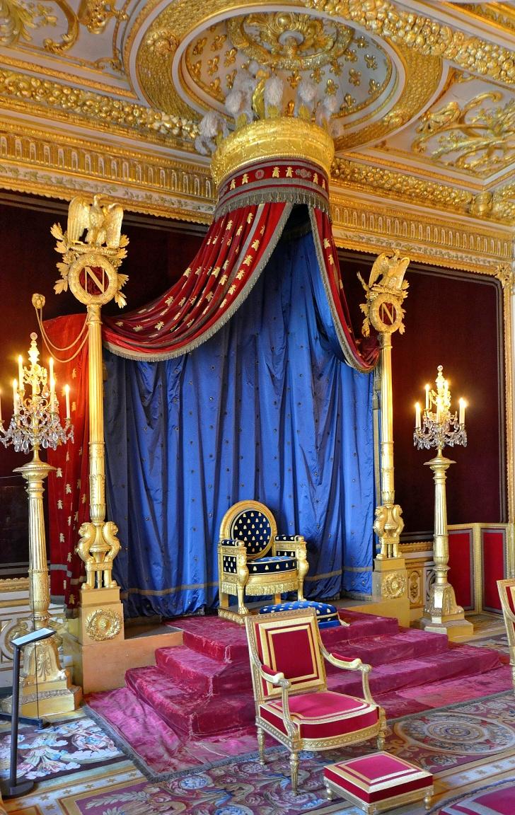 Palace of Fontainbelau throne room