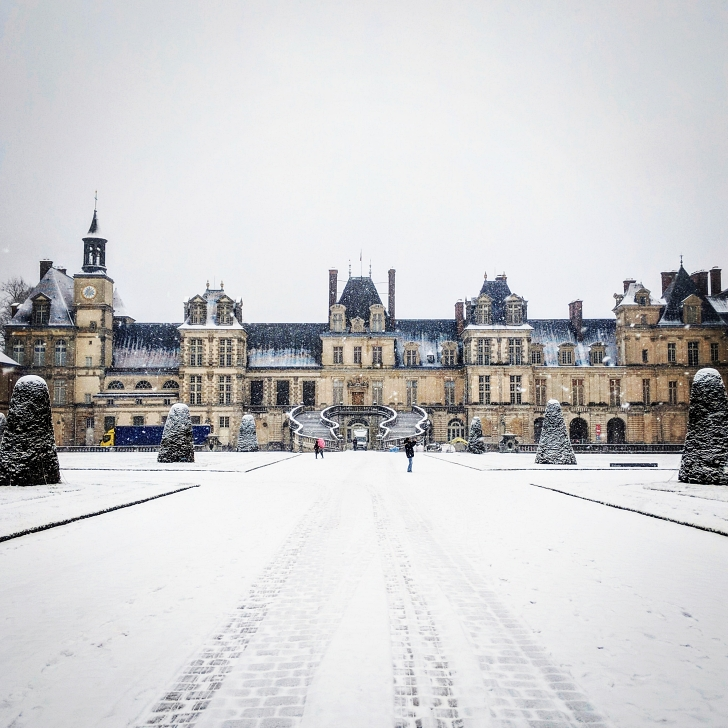 Fontainebleau in winter
