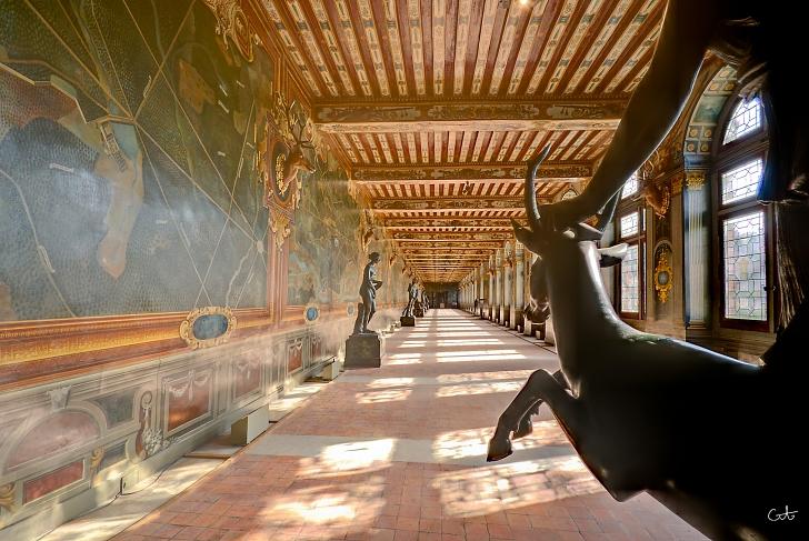 Gallerie de cerfs at Fontainebleau
