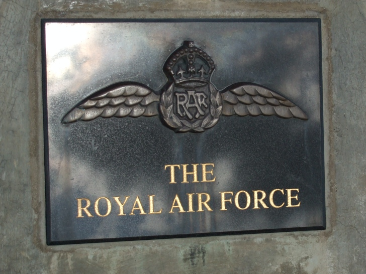 RAF war memorial plaque