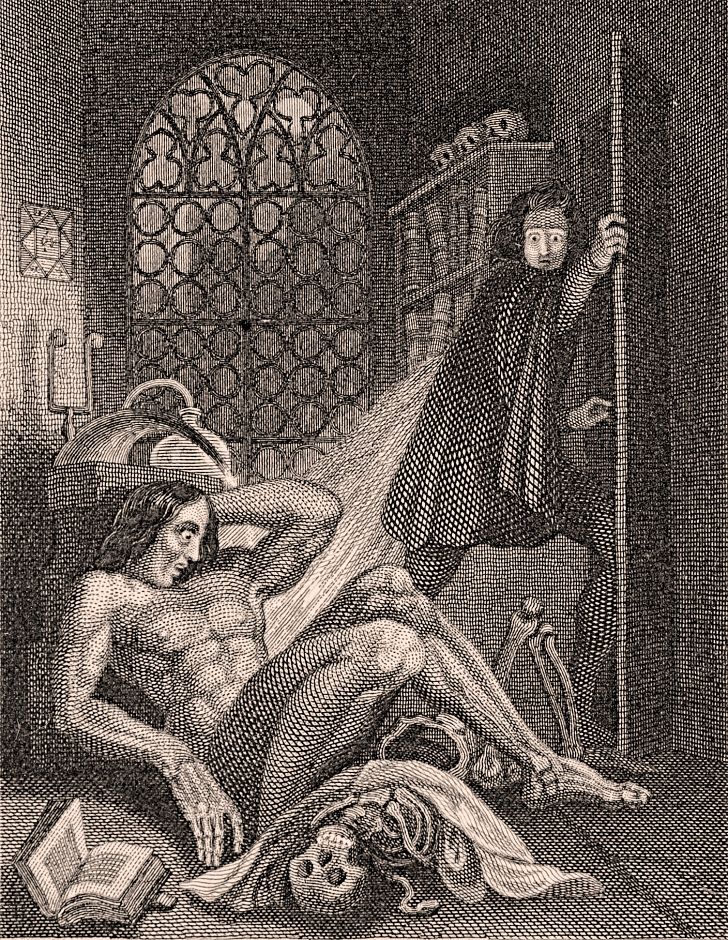 engraving from a 1931 edition of Frankenstein