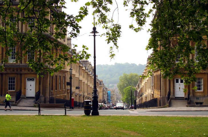 View of Gay St in Bath