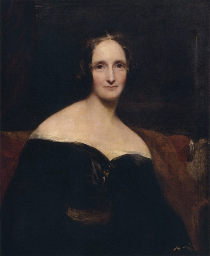 painting of Mary Shelley from around 1840