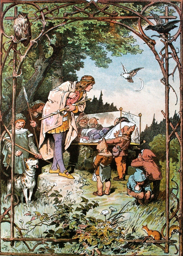 Snow White Illustration from around 1900