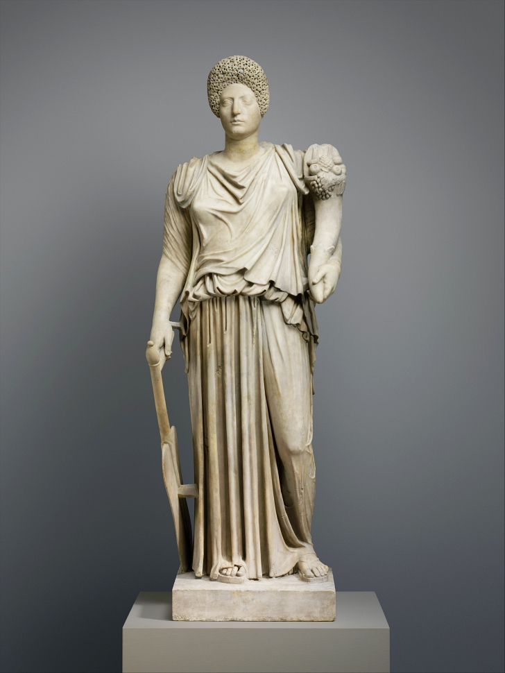 ancient Roman statue of Tyche Fortuna