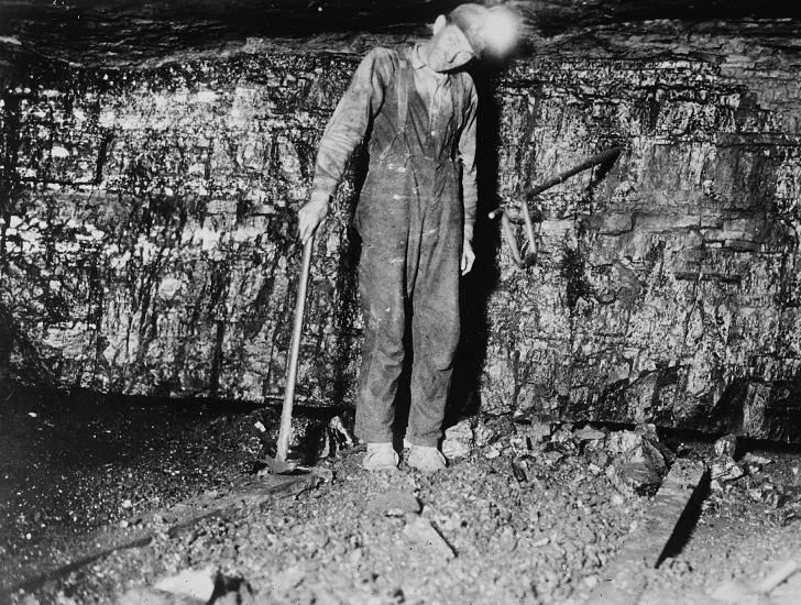 early 1900s coal miner