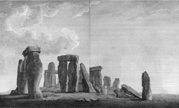 fallen Stonehenge stones as depicted in 1797