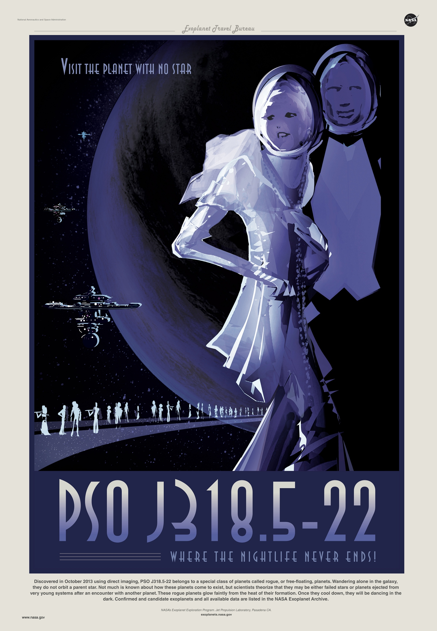 PSO J318.5-22 rogue exoplanet travel poster