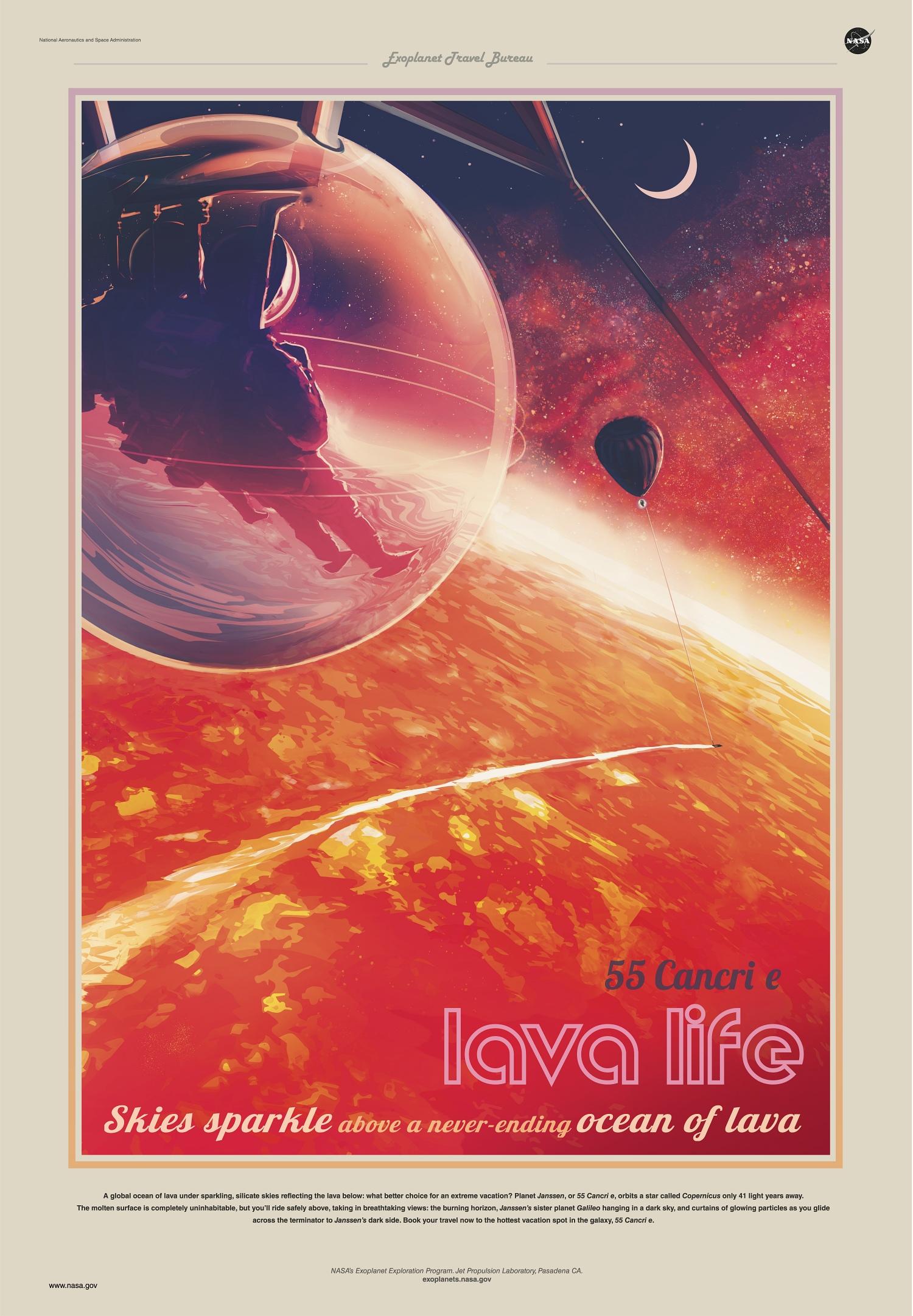 Cancri-e exoplanet travel bureau