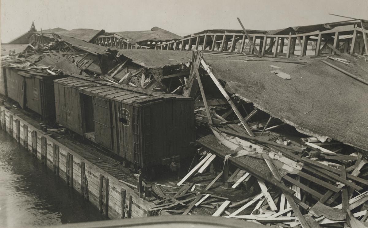 Black Tom Island damage 1916