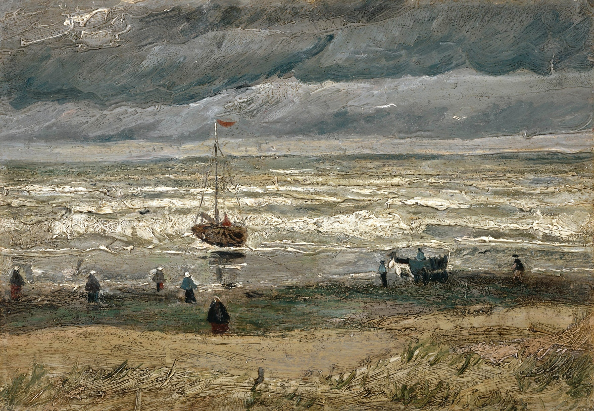 View of the Sea at Neunun painting