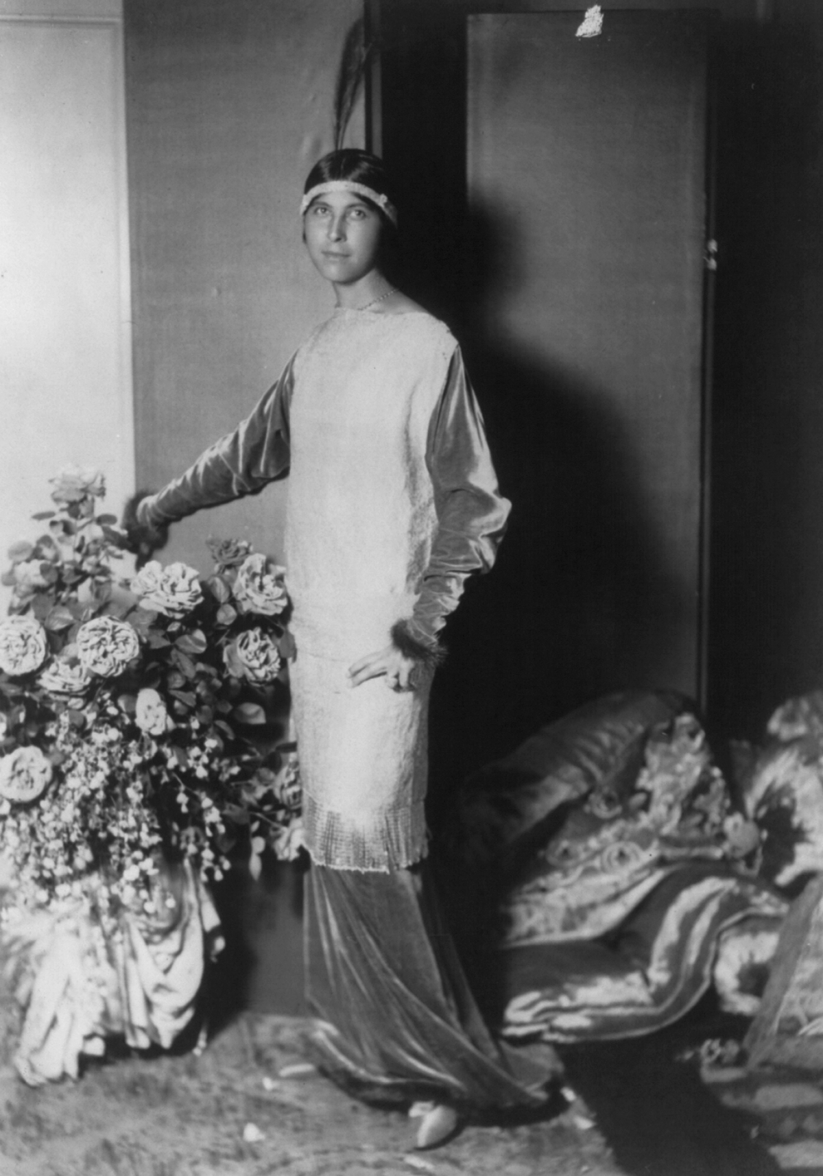 Denise Boulet wife of Paul Poiret wearing one of his gowns