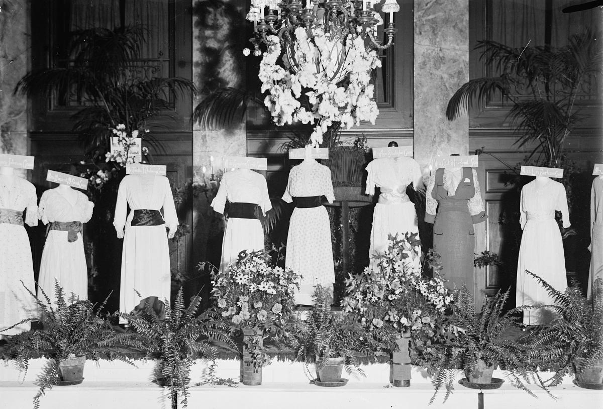 cotton dresses fashion show 1914