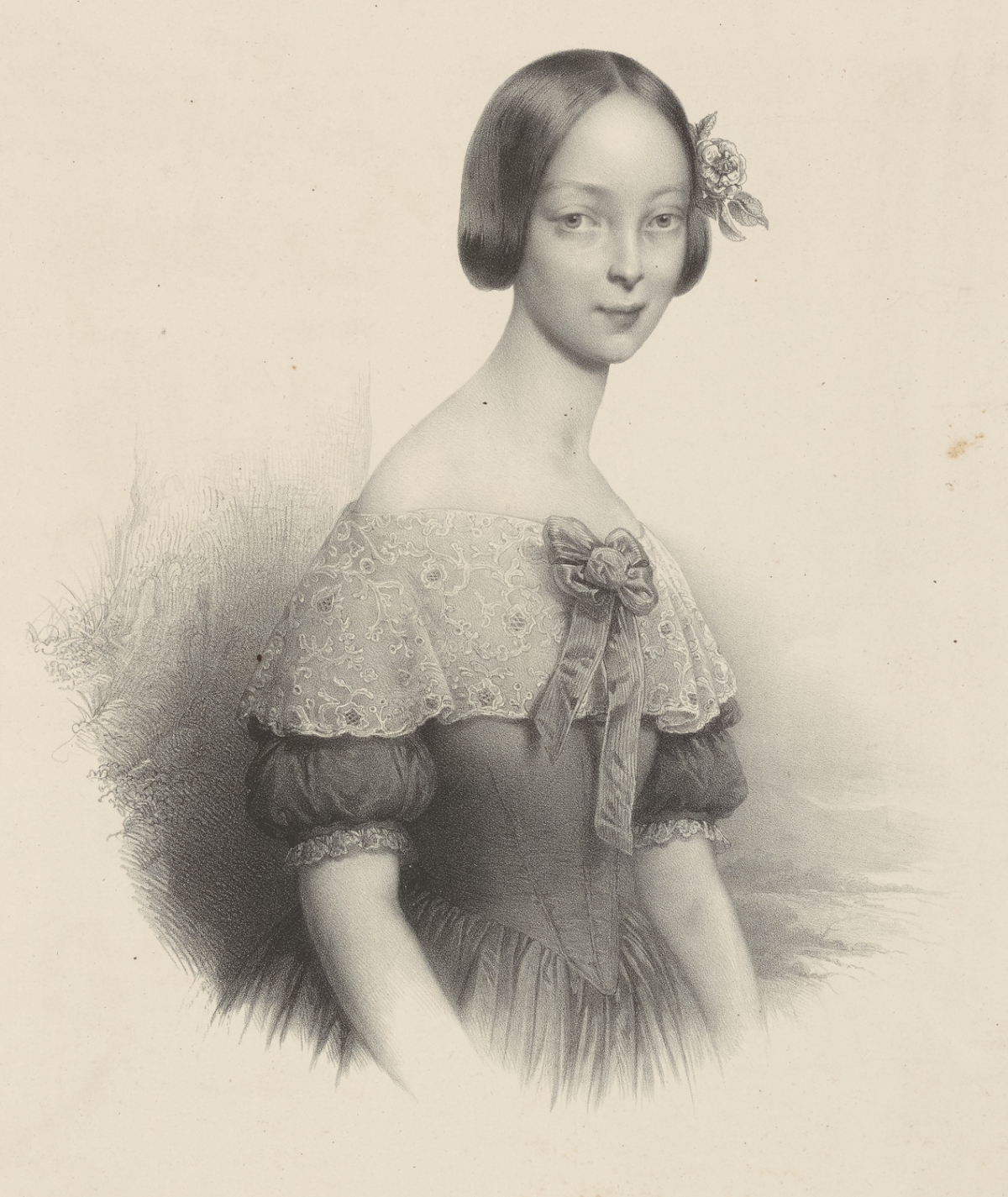 1840s hairstyle