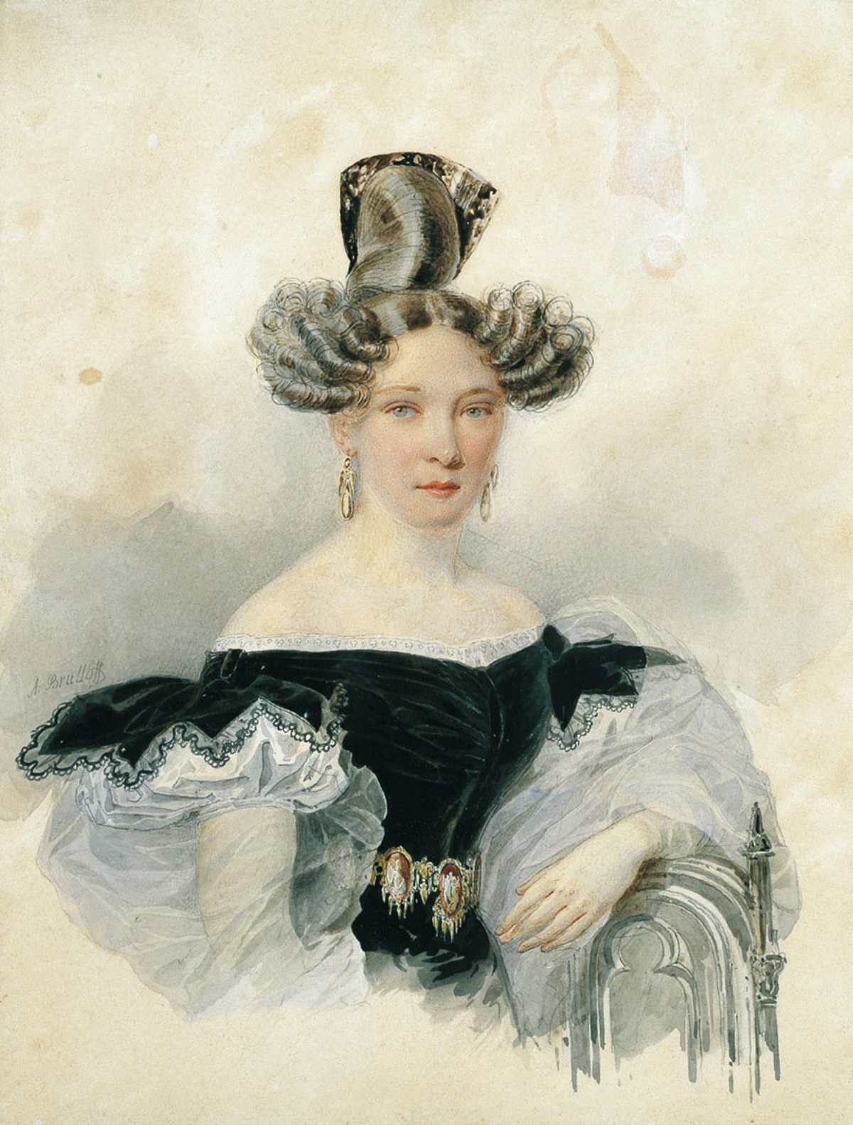 1830s hairstyle