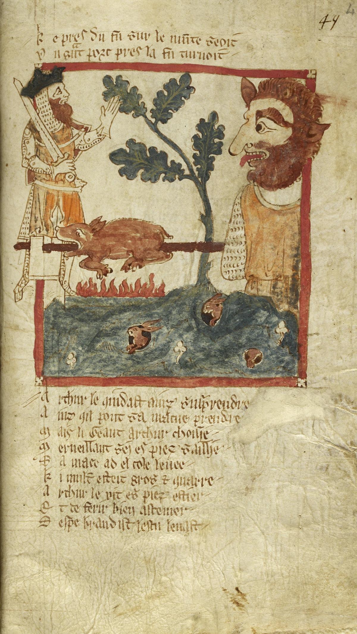 14th Century manuscript on King Arthur