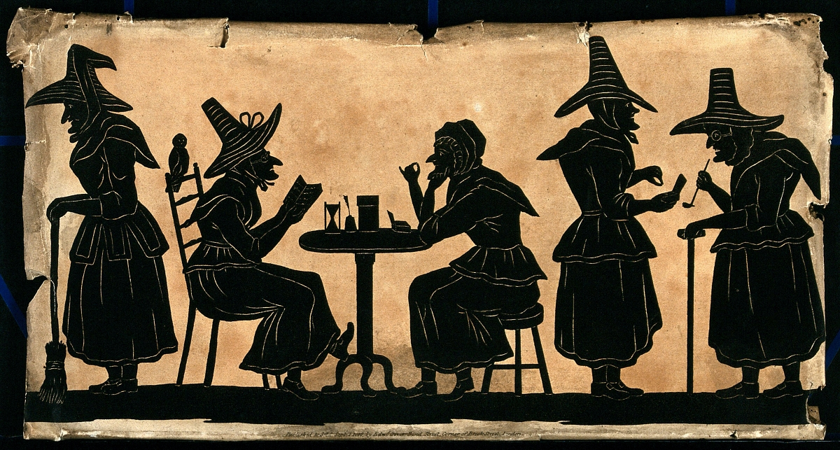 silhouettes of witches from 1815