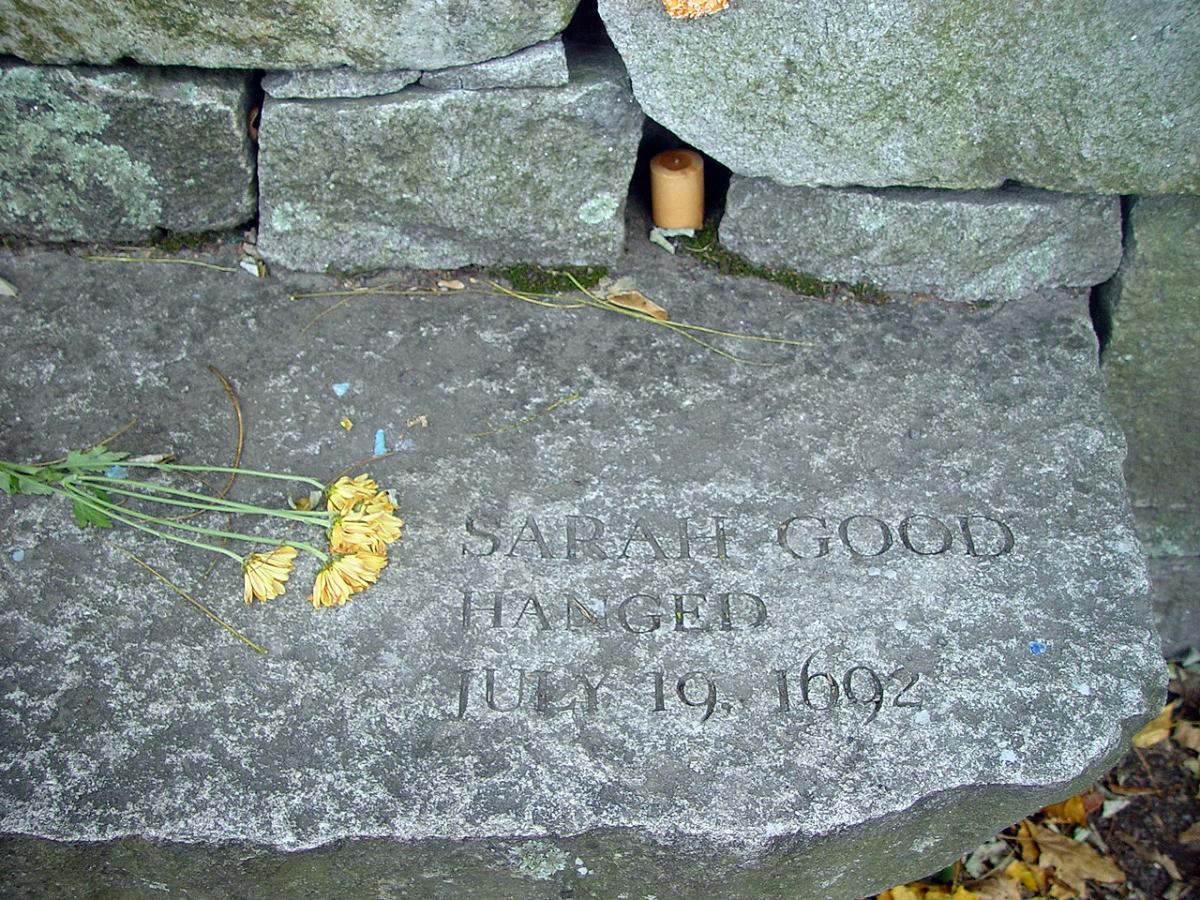 Salem marker for Sarah Good