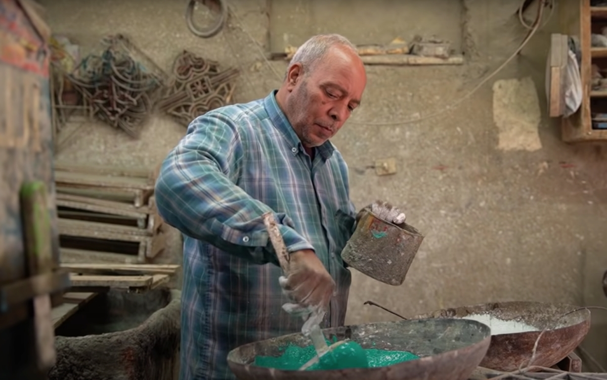 Egyptian tile maker Saied Hussain