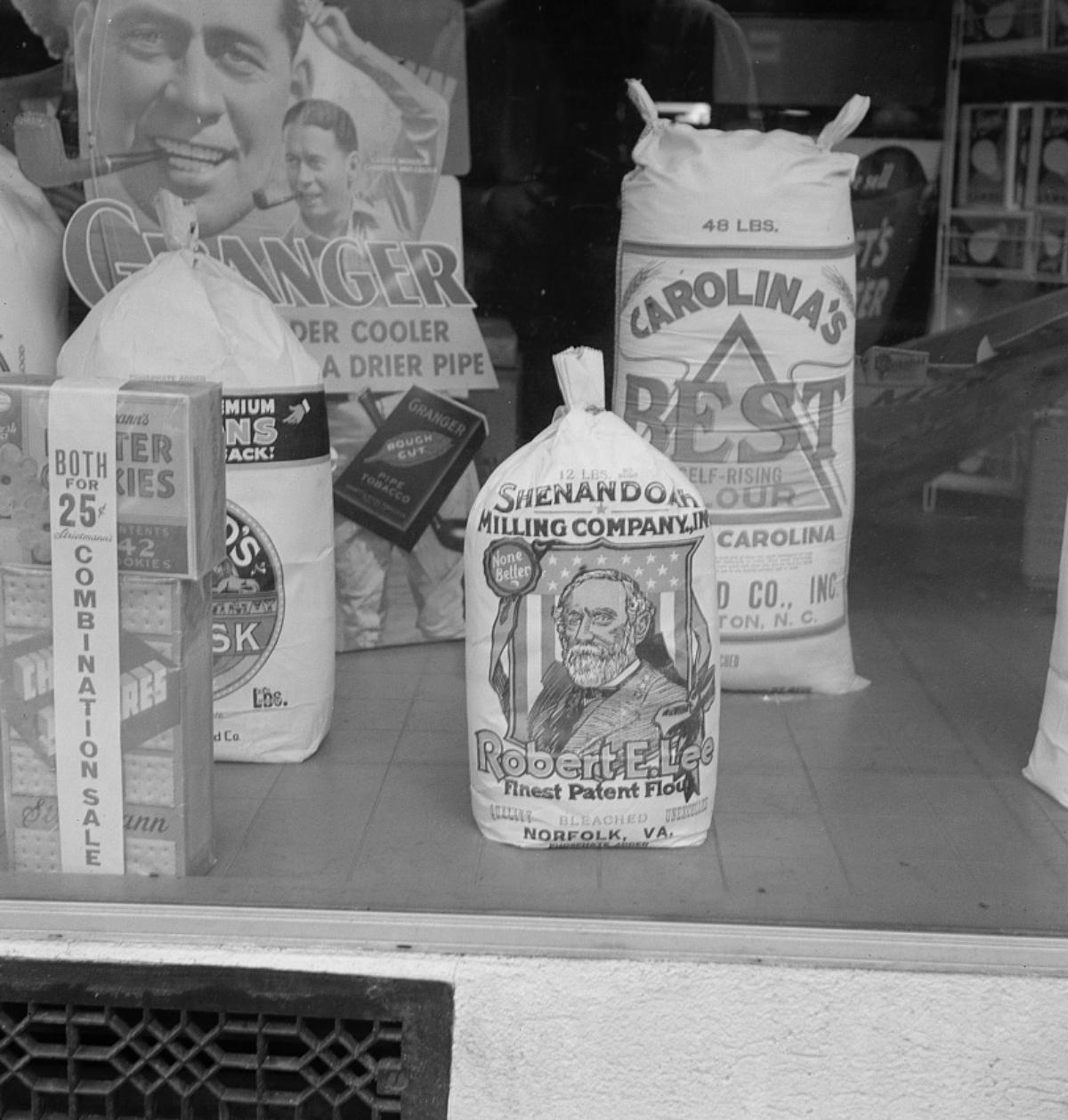 1930s grocery store window
