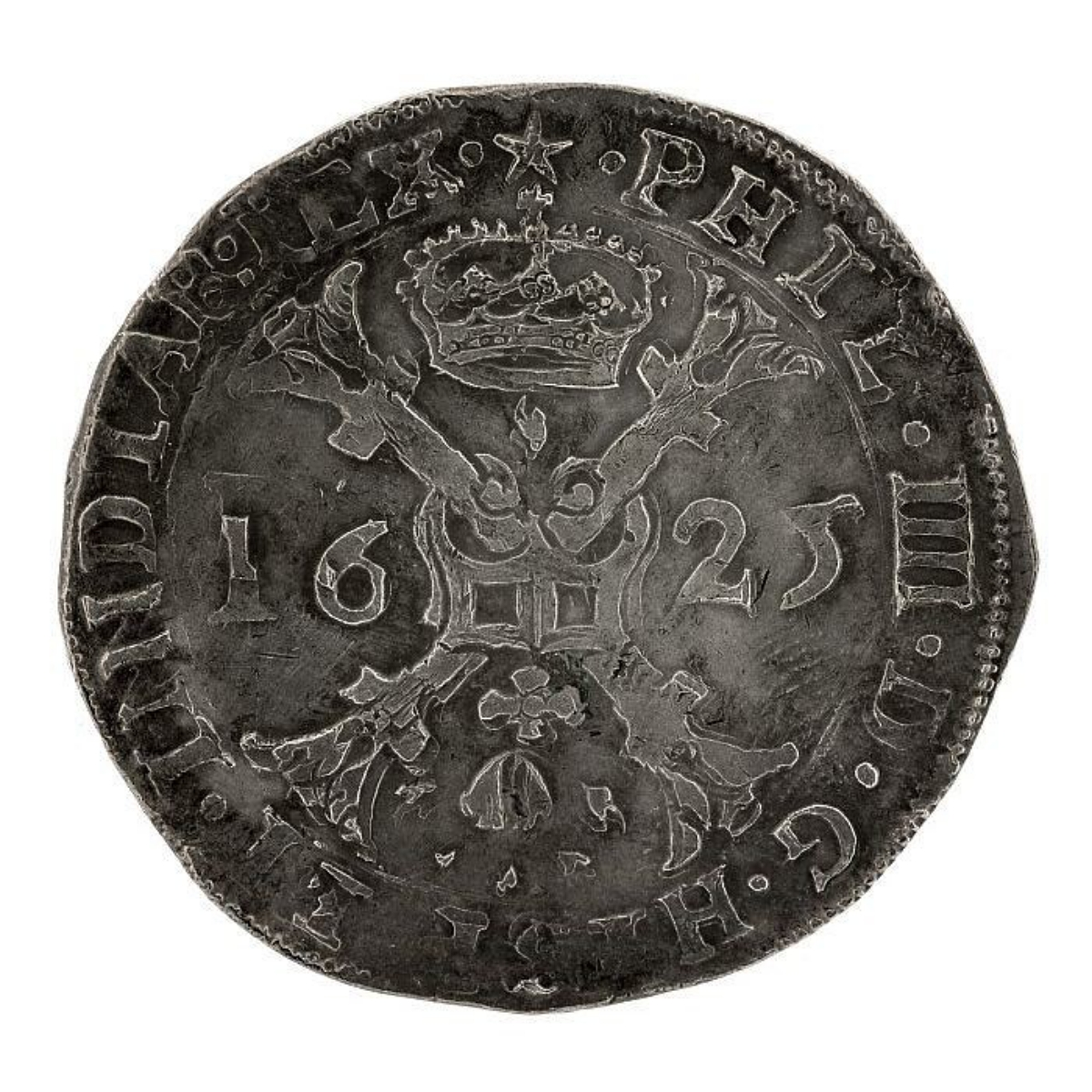 Spanish Dutch patagon coin worth 8 reales