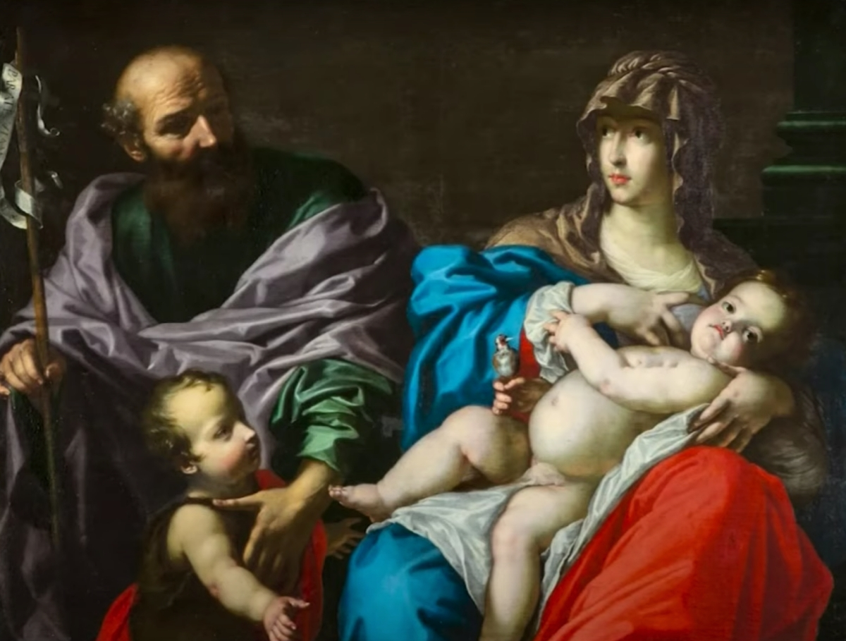 Holy Family with St John painting
