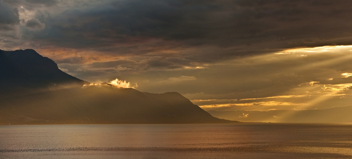 Lake Geneva after a storm