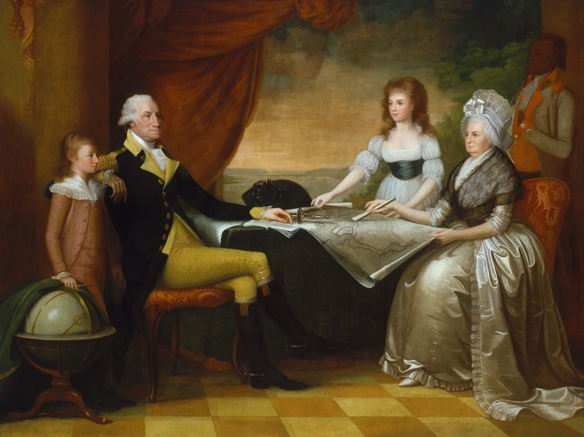 painting of George Washington and family