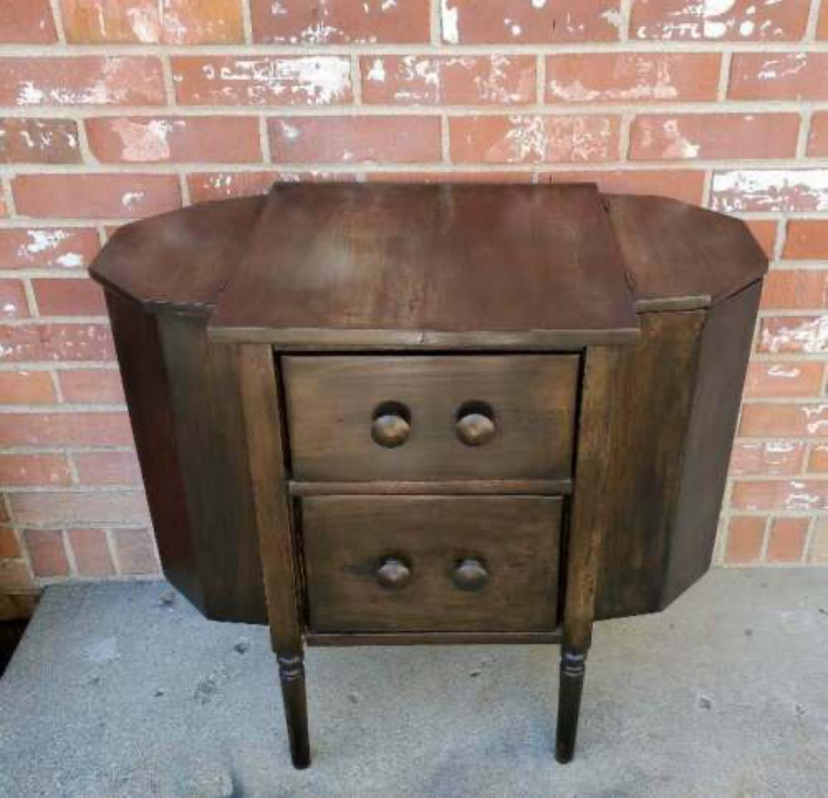 Martha Washington style sewing cabinet