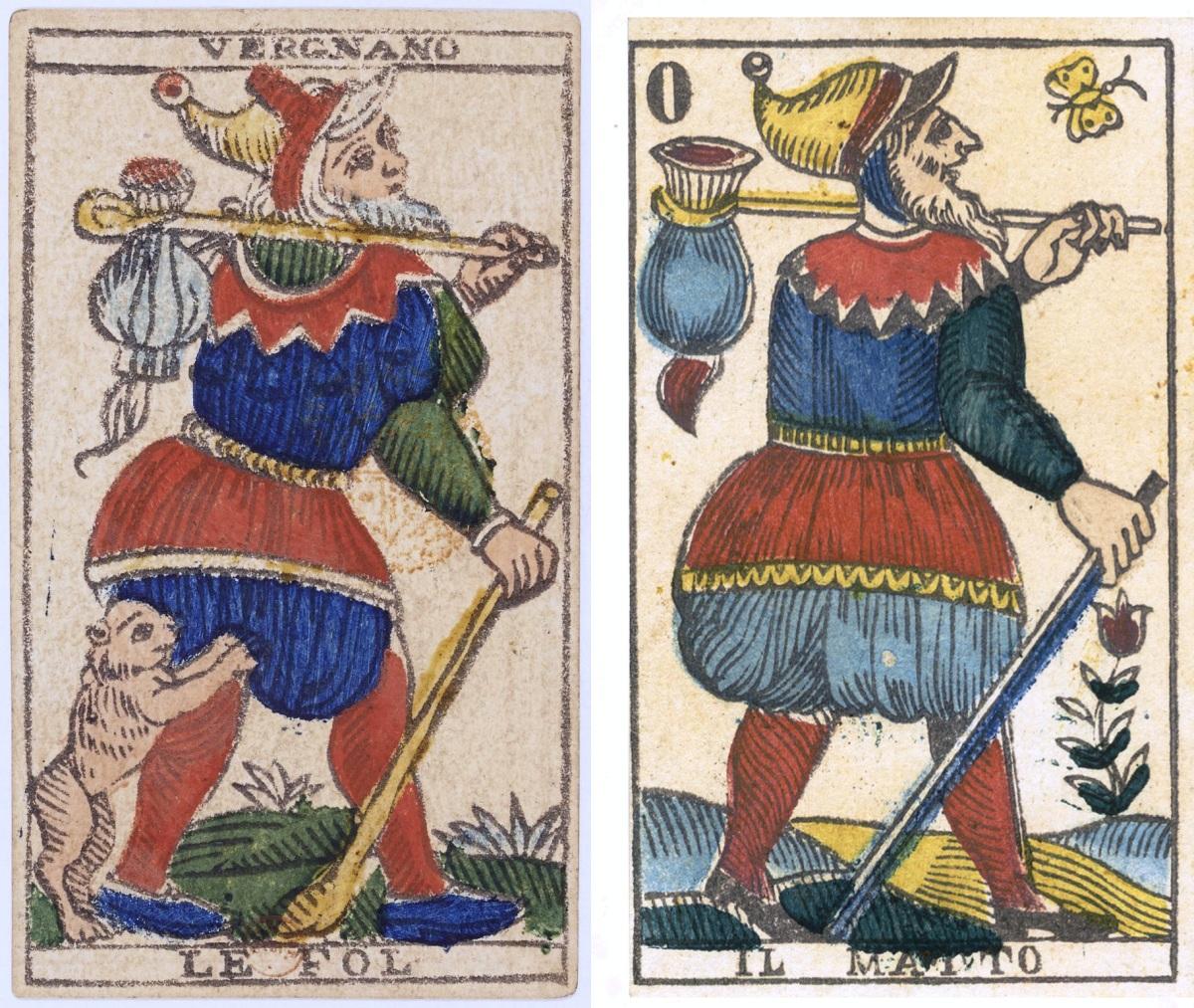 Vergnano Tarot fool cards