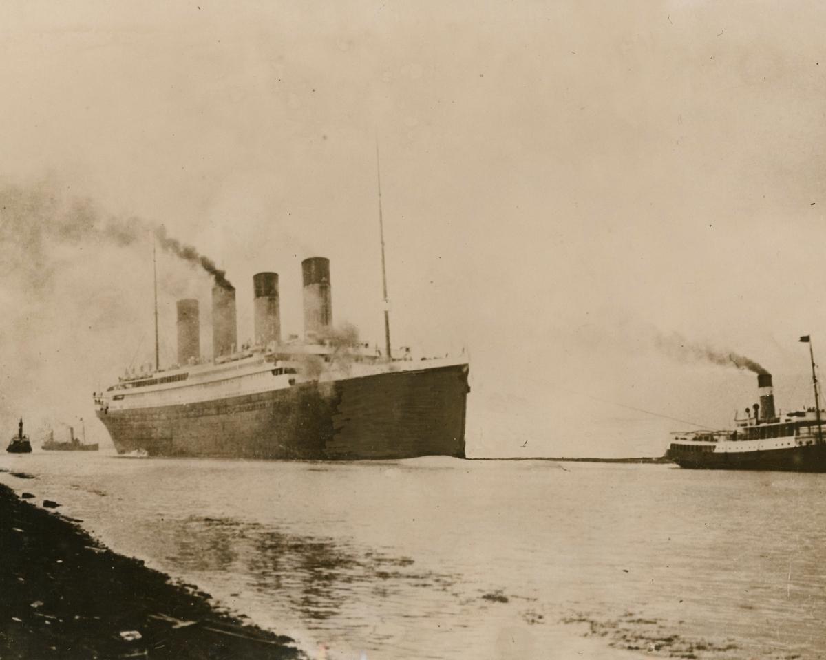 Titanic during sea trials
