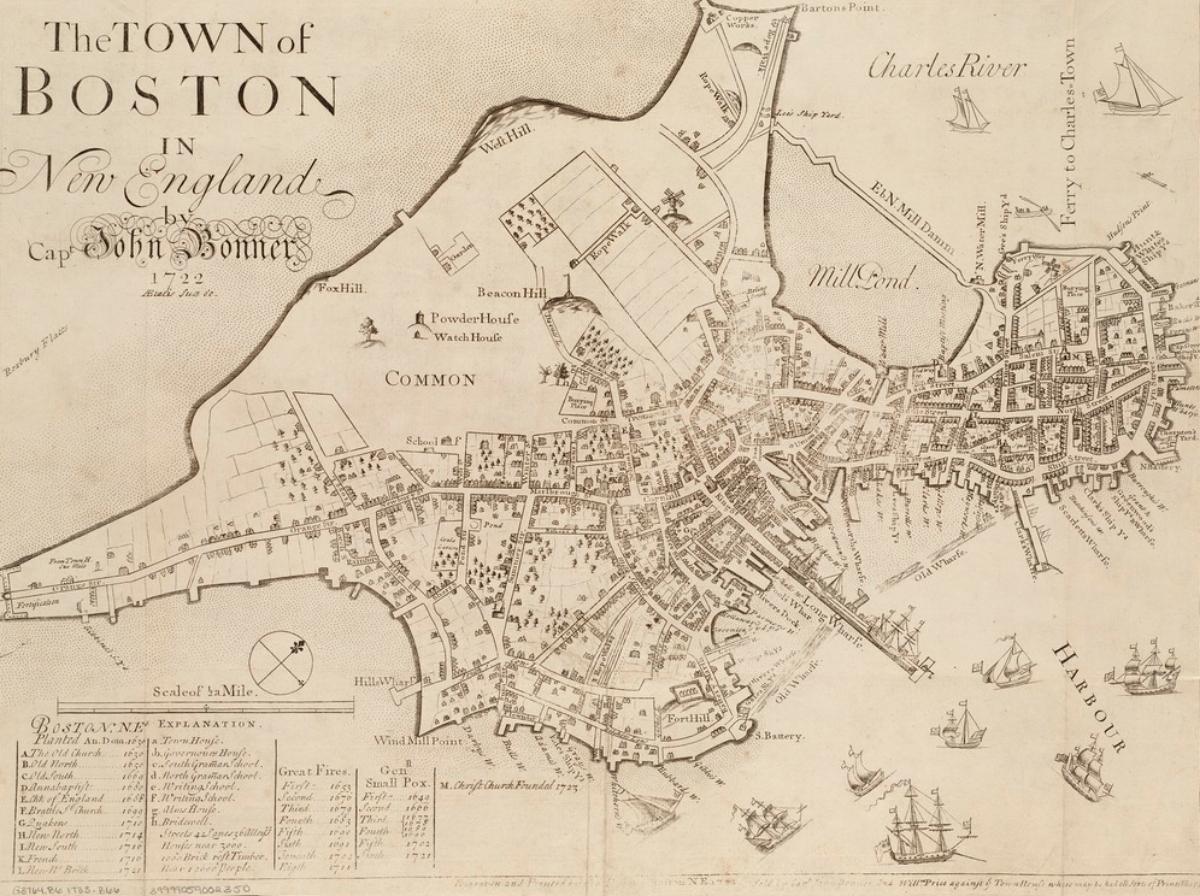 Boston Common 18th century