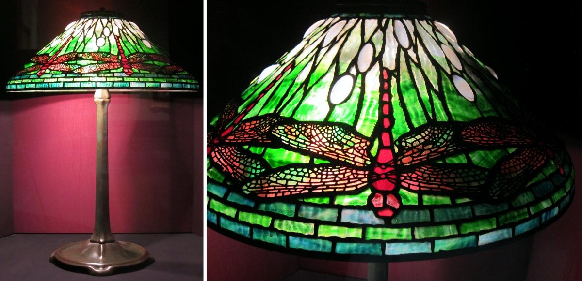 Clara Driscoll Tiffany lamp in Dragonfly design