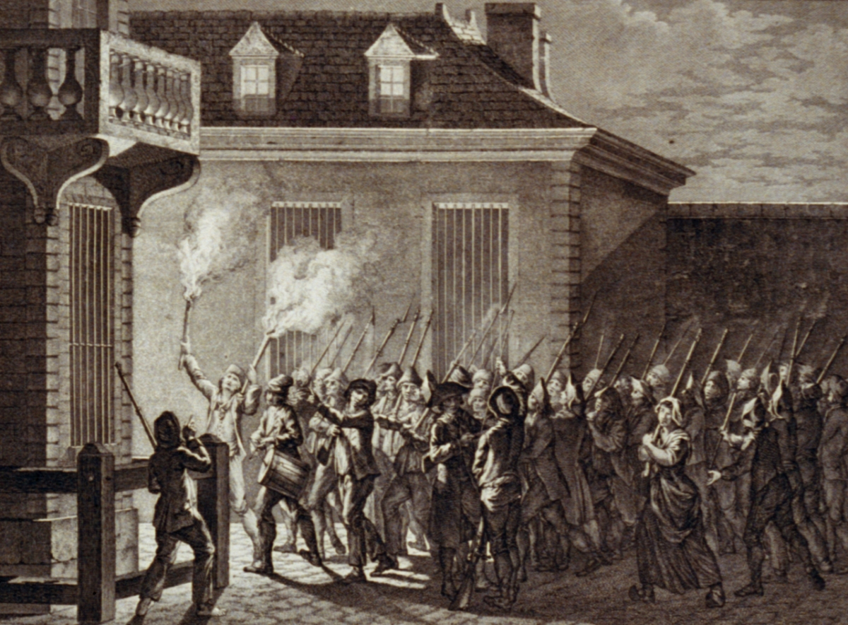 storming of the bastille engraving