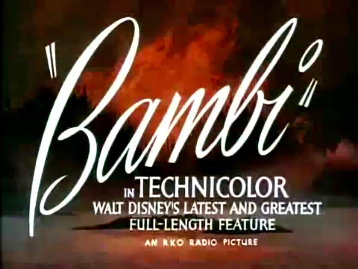 Bambi trailer opening credit