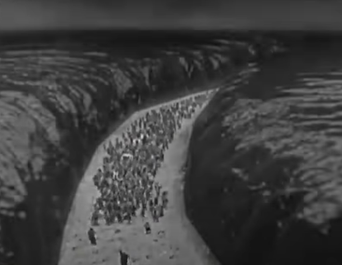 Red Sea scene from The Ten Commandments