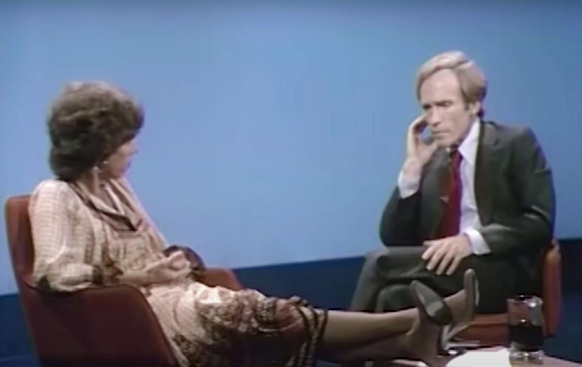 Carol Burnett ont he Dick Cavett Show
